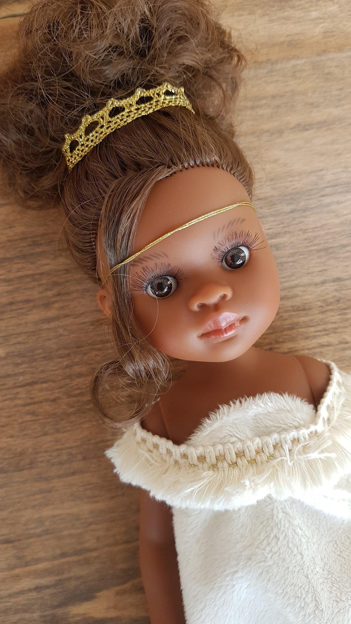 Image of POUPEE DE NOEL - MODELE UNIQUE Elissa peau noire metisse