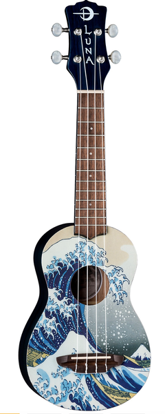 Image of Luna Great Wave Soprano Ukulele w/Soft Case