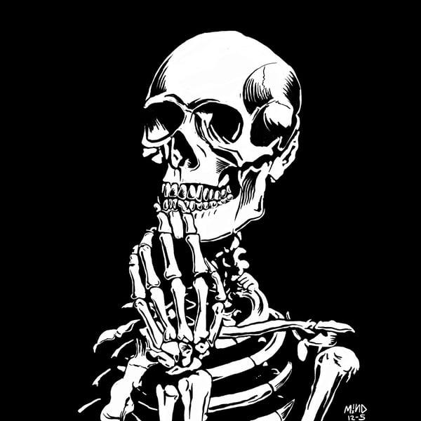 """Image of """"Mortal Thoughts"""" Skella art print / Shirt"""