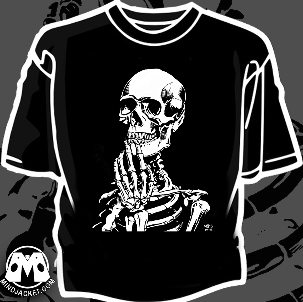 "Image of ""Mortal Thoughts"" Skella art print / Shirt"