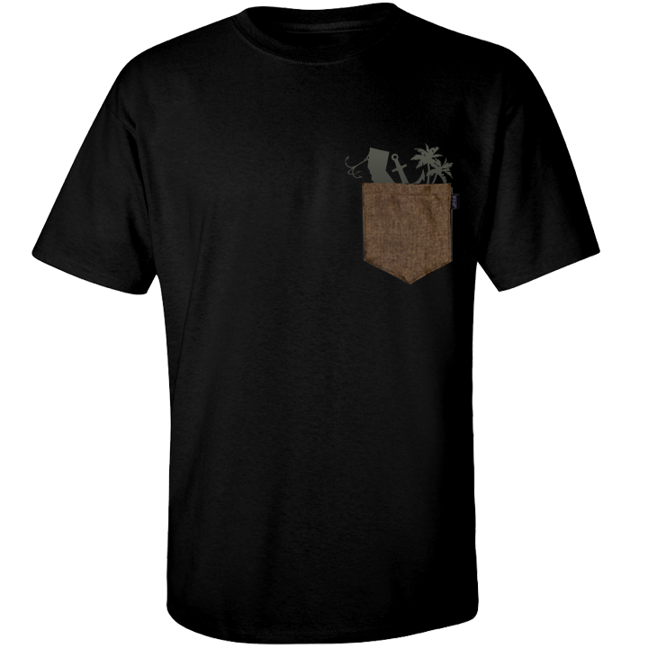 Image of Genuine Gunny Pocket Tee (black)