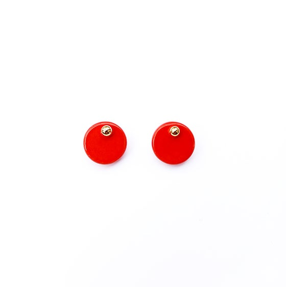 Image of RED DISCS EARRINGS