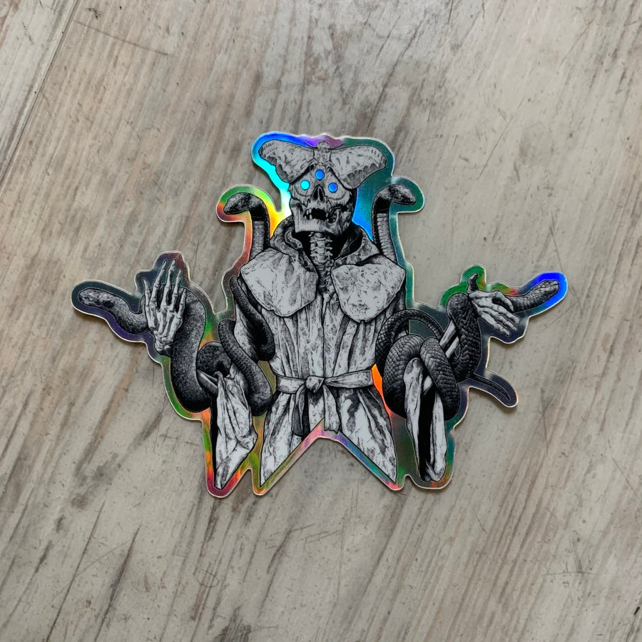 Image of Mothman Holographic Sticker