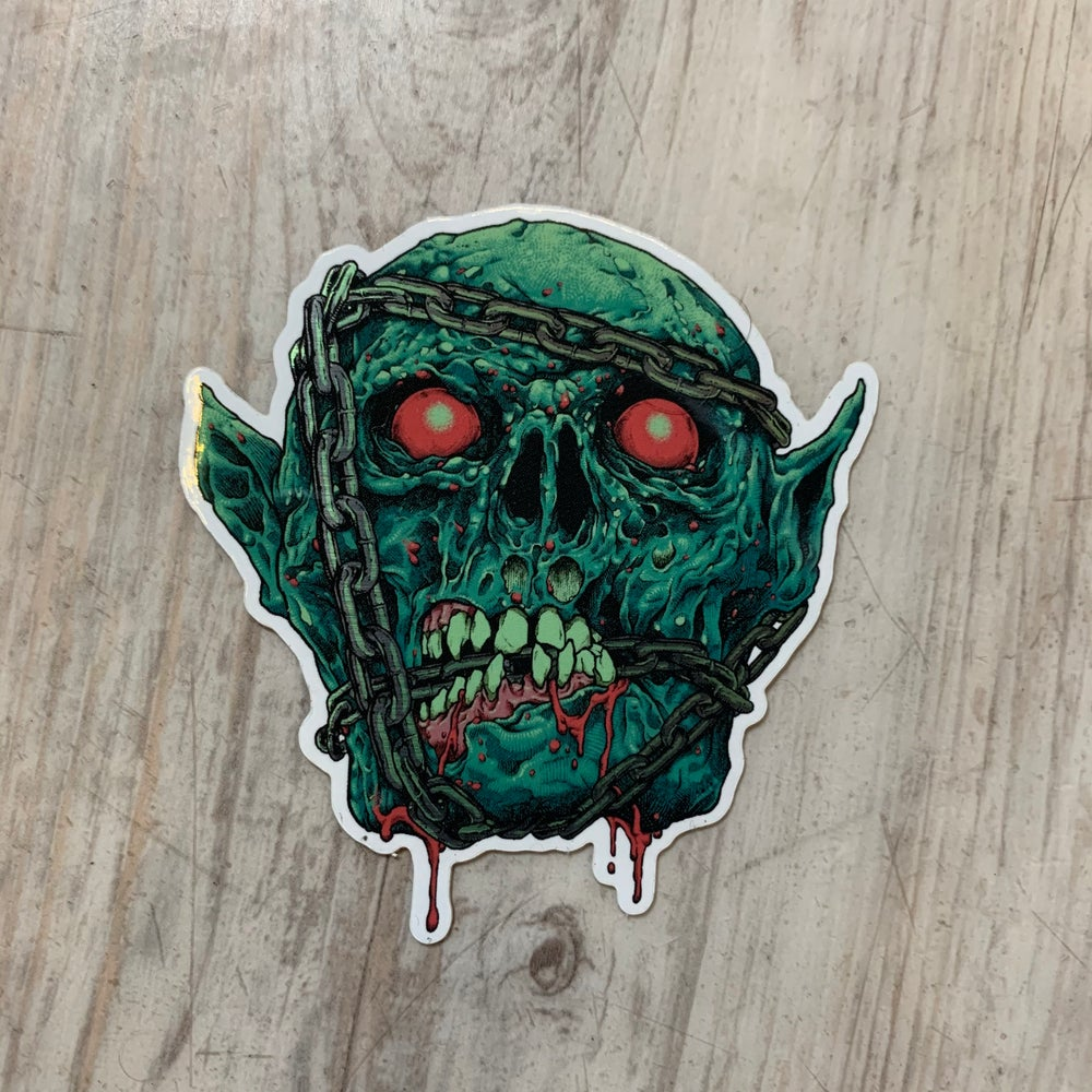 Image of Chainface Brushed Aluminum Sticker