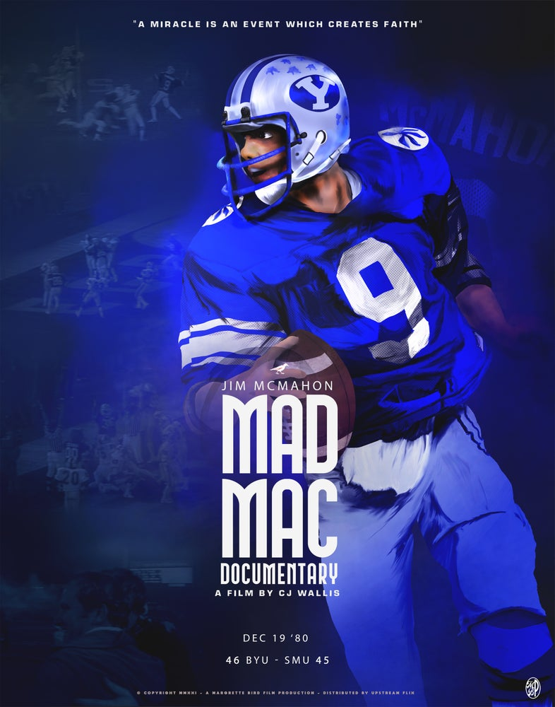Image of MAD MAC - BYU MIRACLE BOWL POSTER