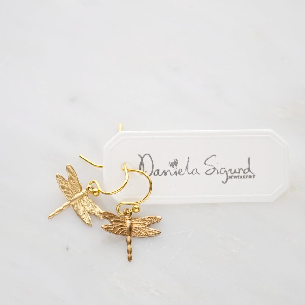 Image of Small dragonfly earrings