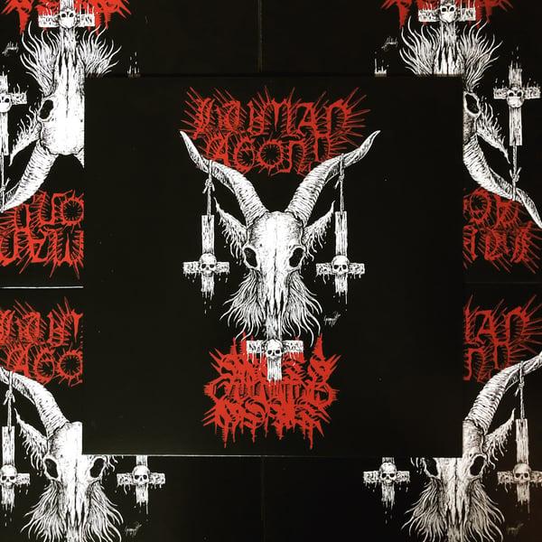 Image of Human Agony / Methgoat -  Unification Through Disabrahamic Terrorism LP