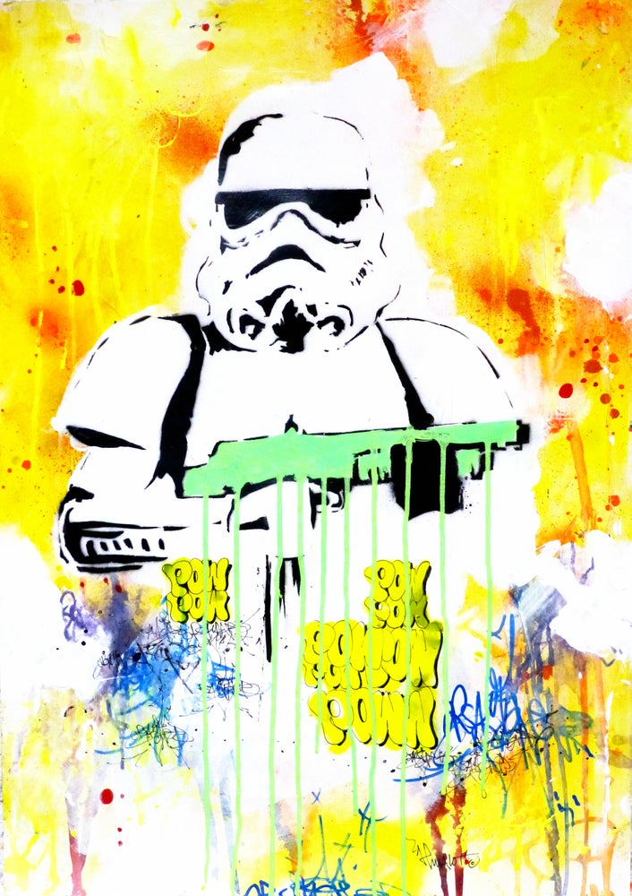 Image of ORIGINAL STORMTROOPER GREEN. Stencil. Unique. Signed.