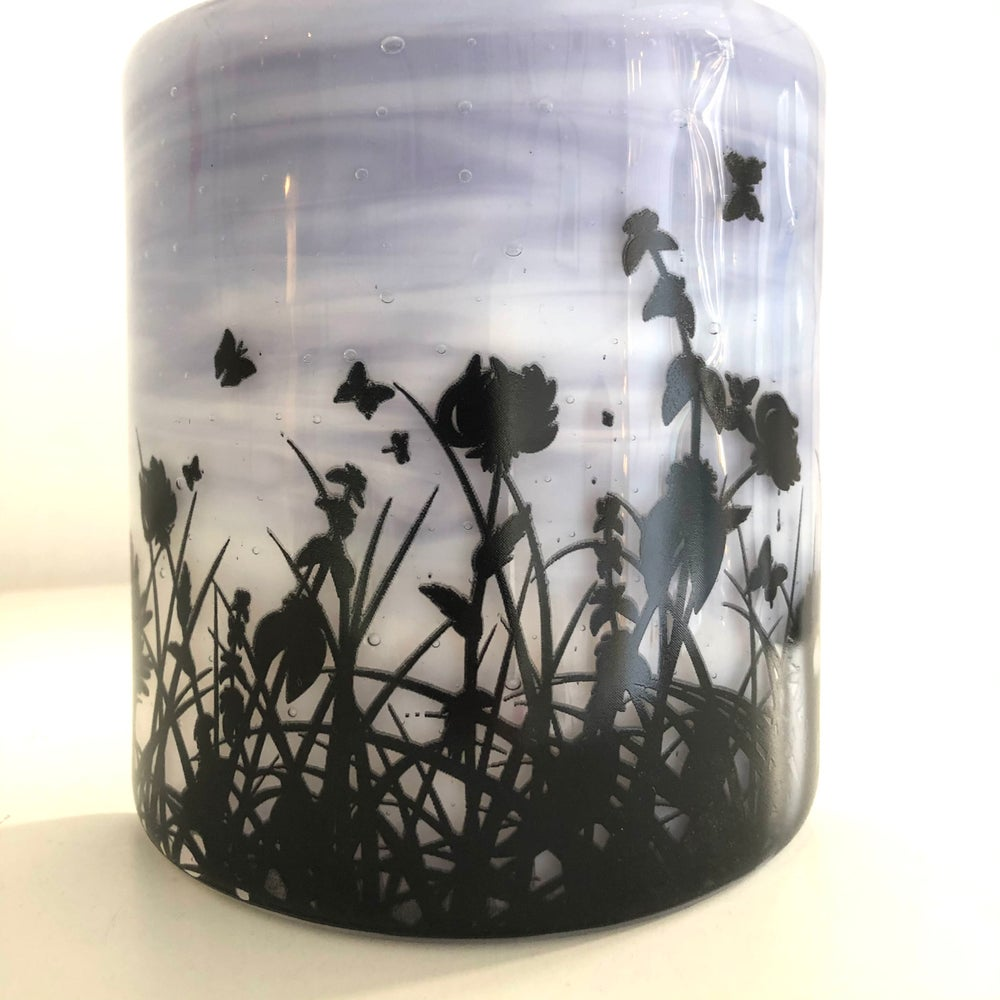 Image of Screen printed meadow curve