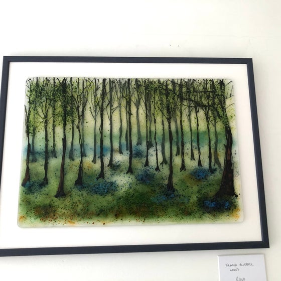 Image of Large framed bluebell woods