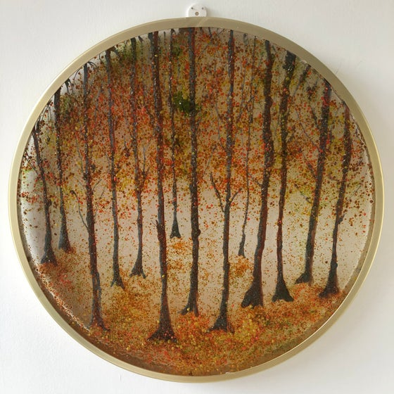 Image of Round autumn scene