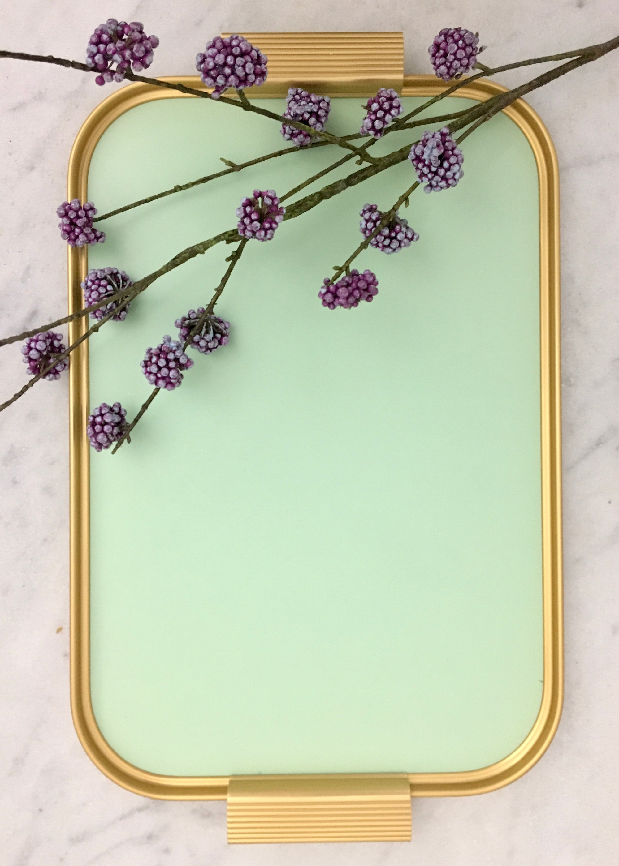 Image of Kaymet Tray Mellow Green/Gold