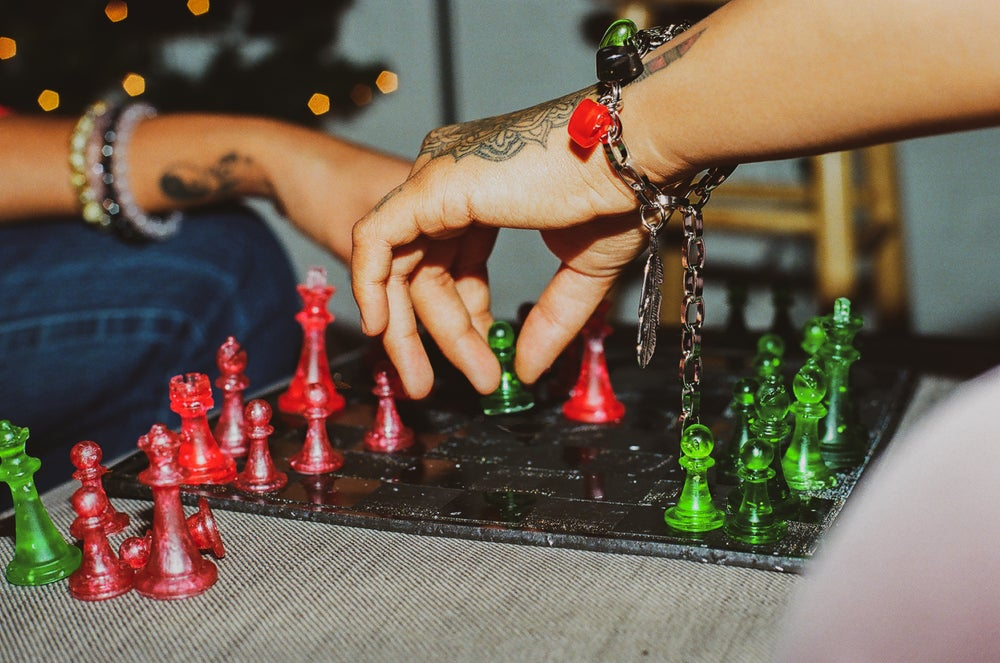 Mind Over Matter R.B.G Chess Set