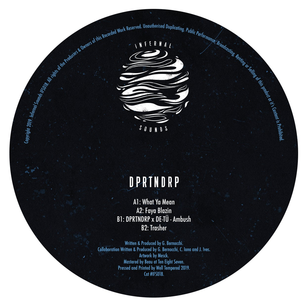 Image of IFS018: DPRTNDRP - What Ya Mean EP