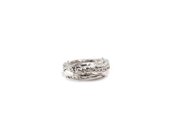 Image of Rhodium Tentacle Ring