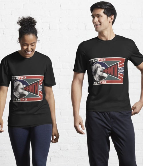 """Image of """"Books."""" Add, 1922 by A. Rodchenko. TSHIRT/POSTER"""