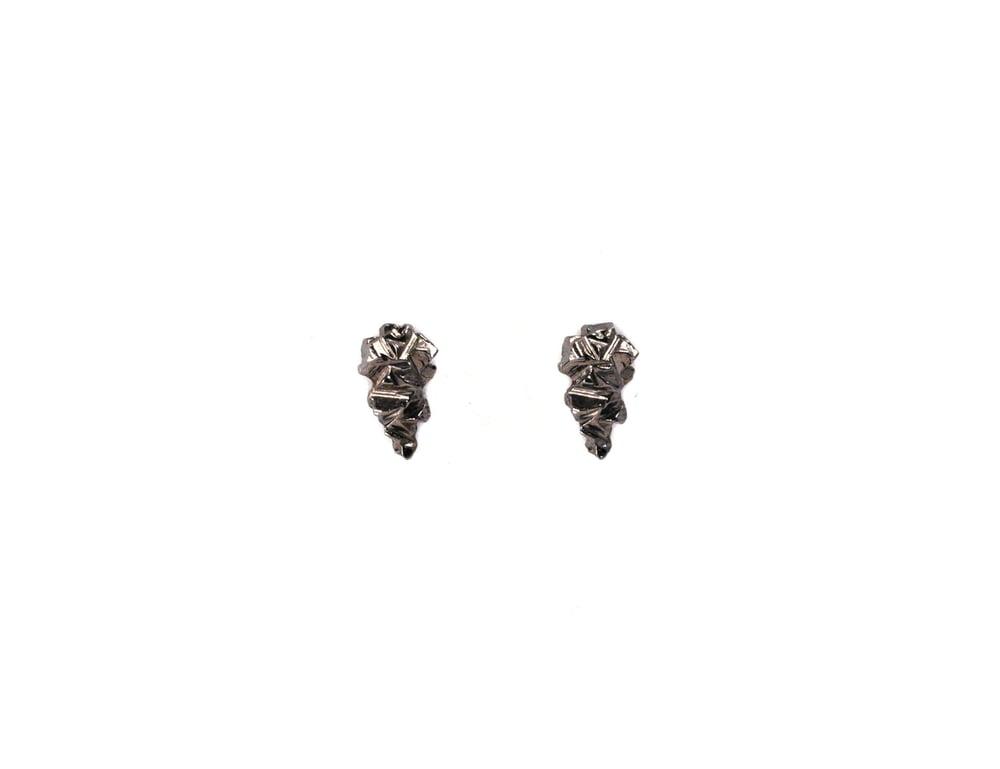 Image of Gunmetal Stone Age Small Studs
