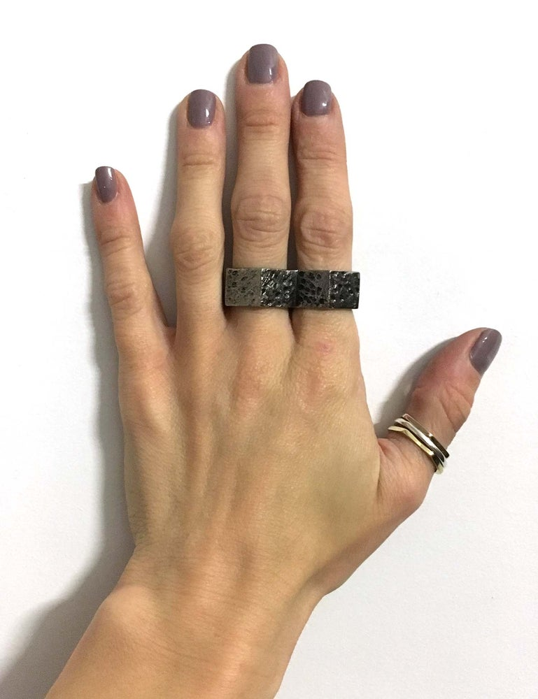 Image of Gunmetal Busted Nut Duster Ring