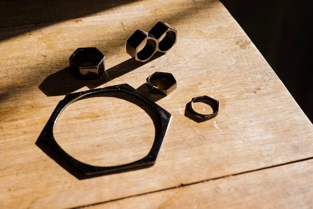 Image of Gunmetal Nut Duster Ring