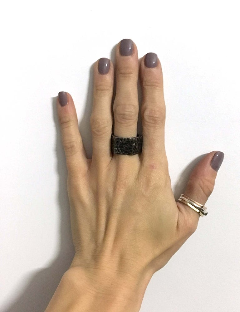 Image of Gunmetal Busted Nut Ring