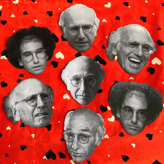 Image of Larry David sticker pack