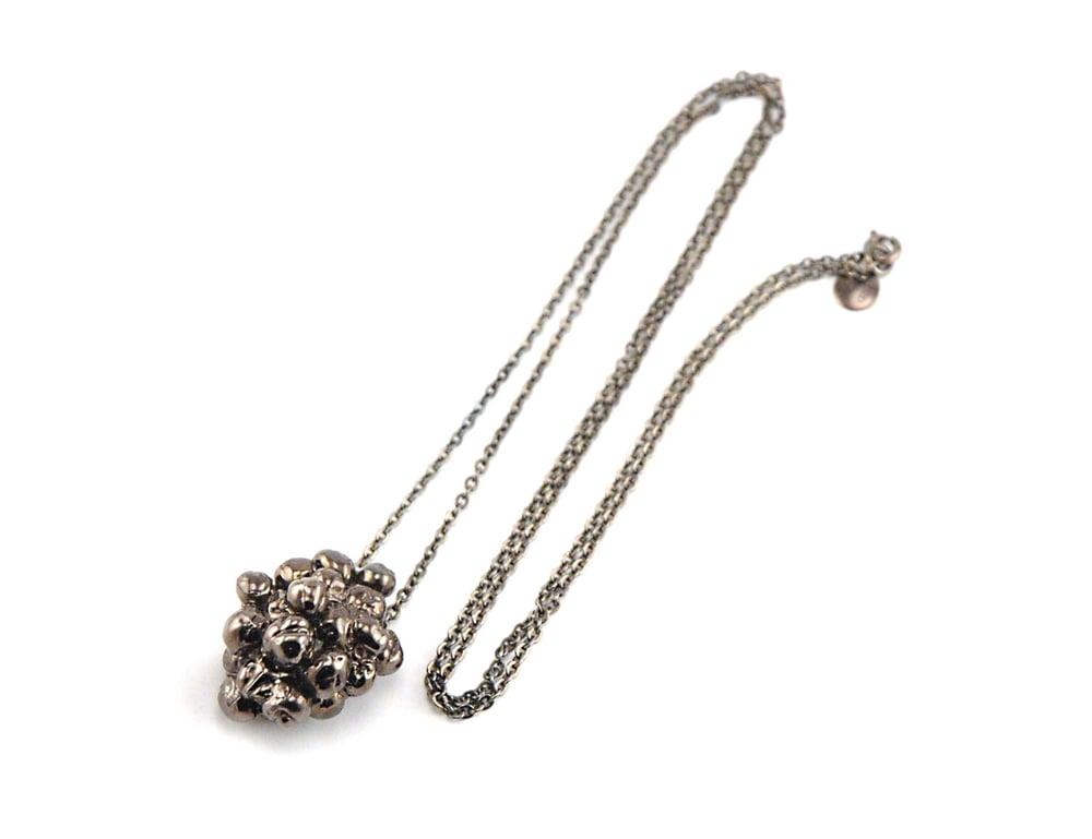 Image of Gunmetal Caviar Pendant Necklace