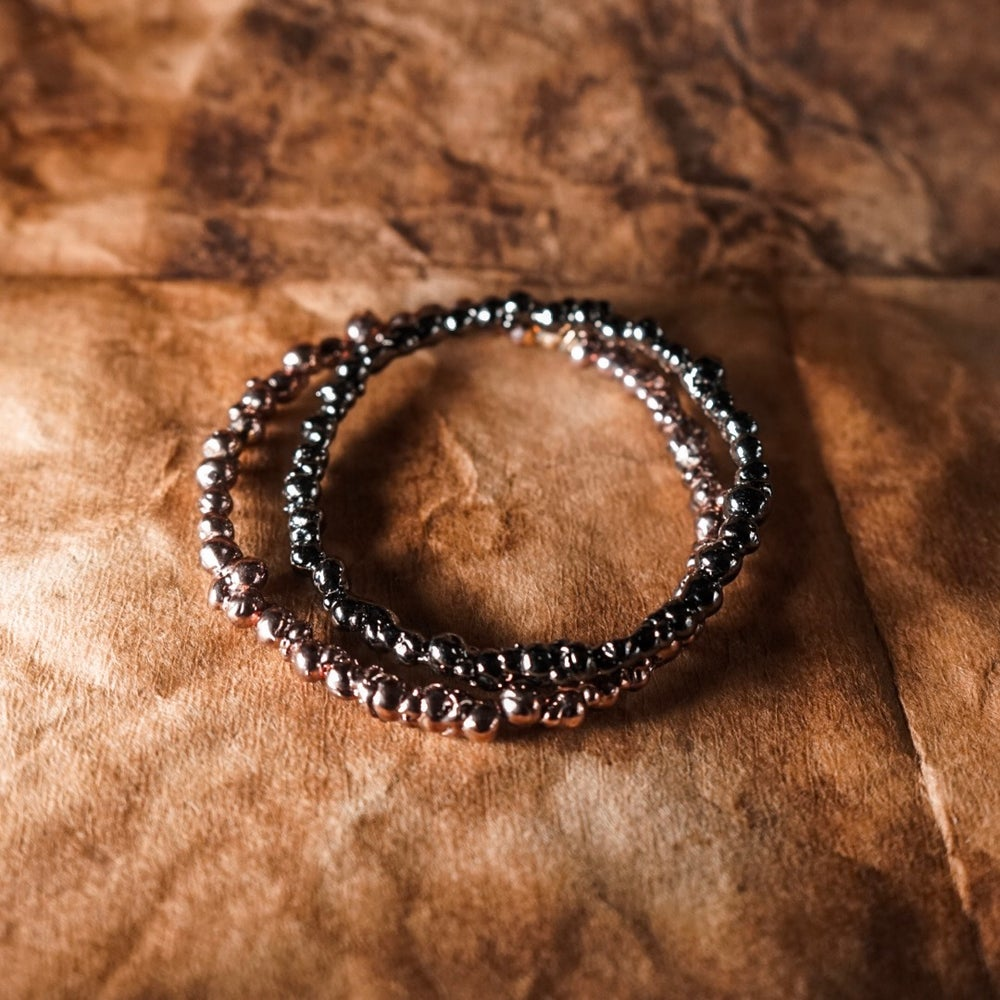 Image of Gunmetal Caviar Big Ball Bangle