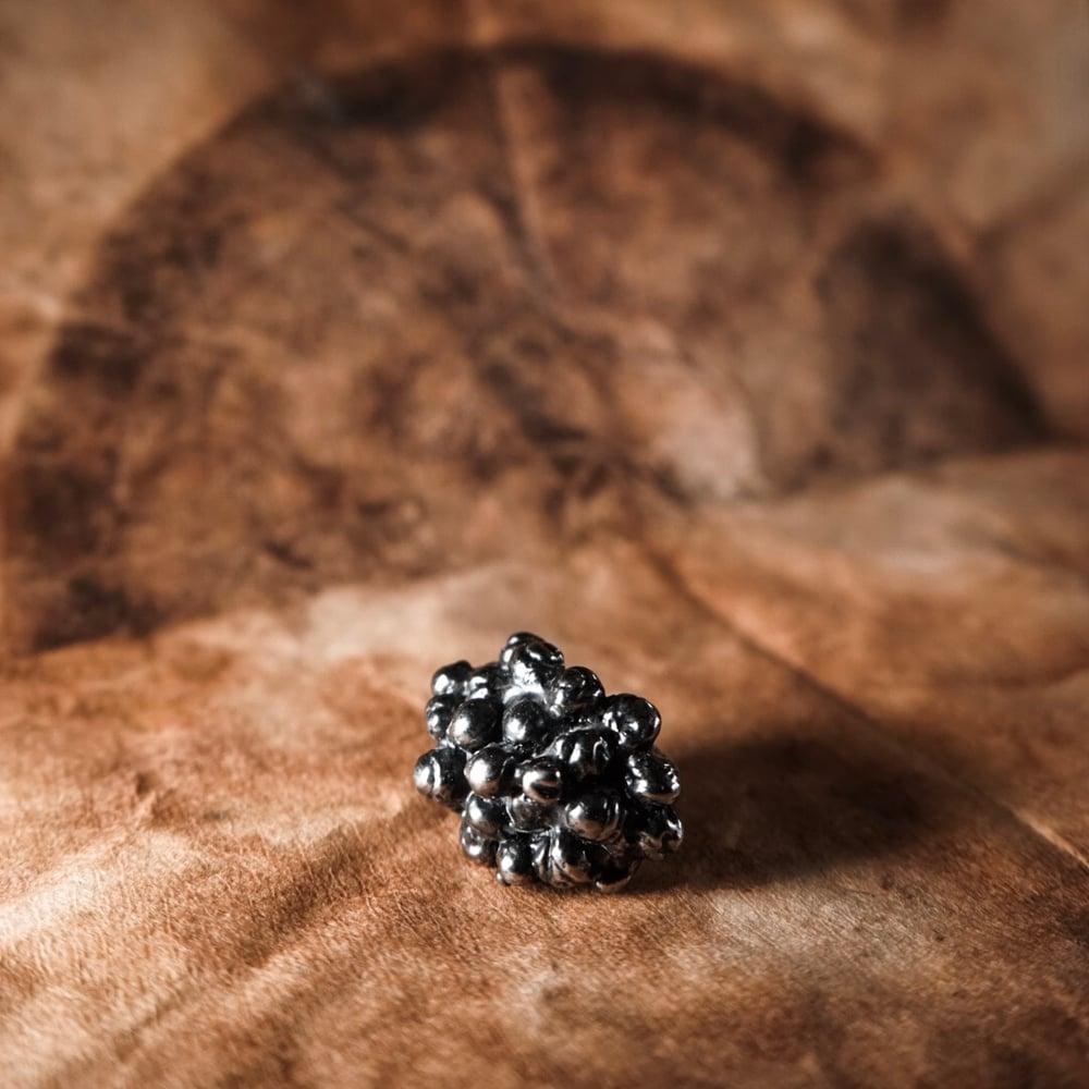 Image of Gunmetal Caviar Cocktail Ring