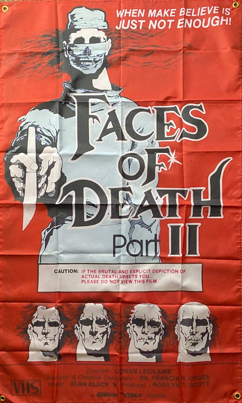 Image of Faces Of Death  2 - Flag / Banner / Tapestry