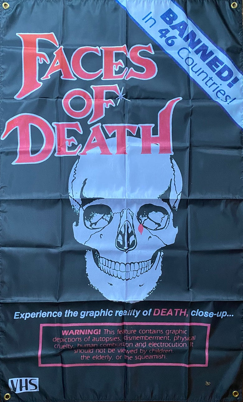 Image of Faces Of Death - Flag / Banner / Tapestry