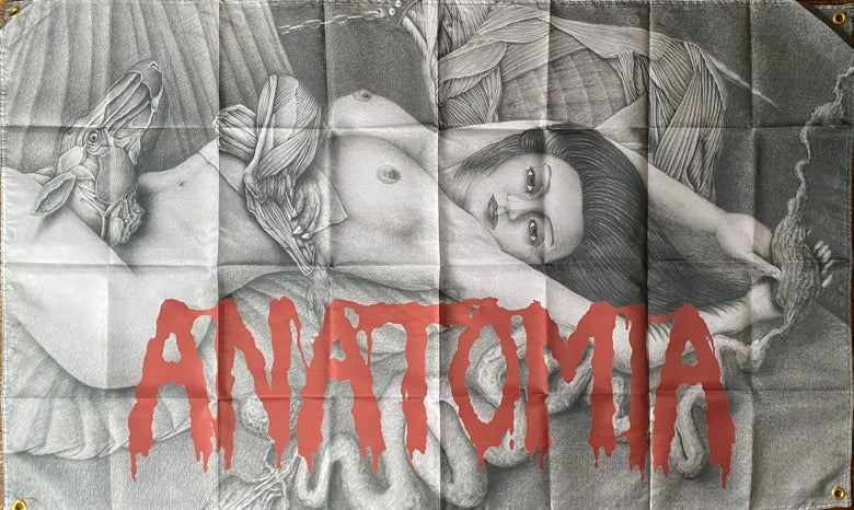 "Image of Anatomia "" Dissected Humanity ""  Flag / Banner / Tapestry"