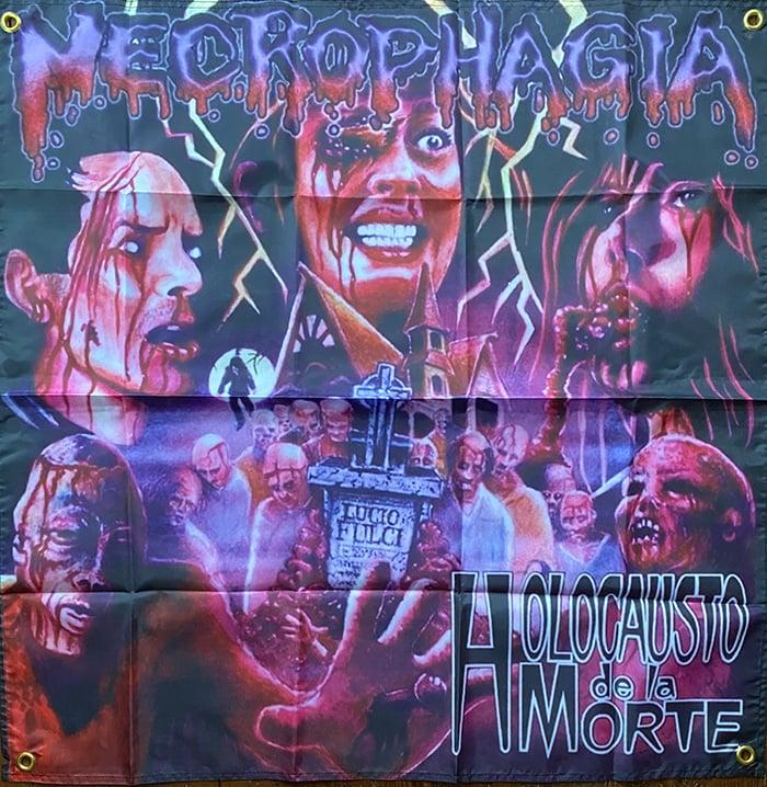 "Image of Necrophagia "" Holocausto De La Morte "" Flag"