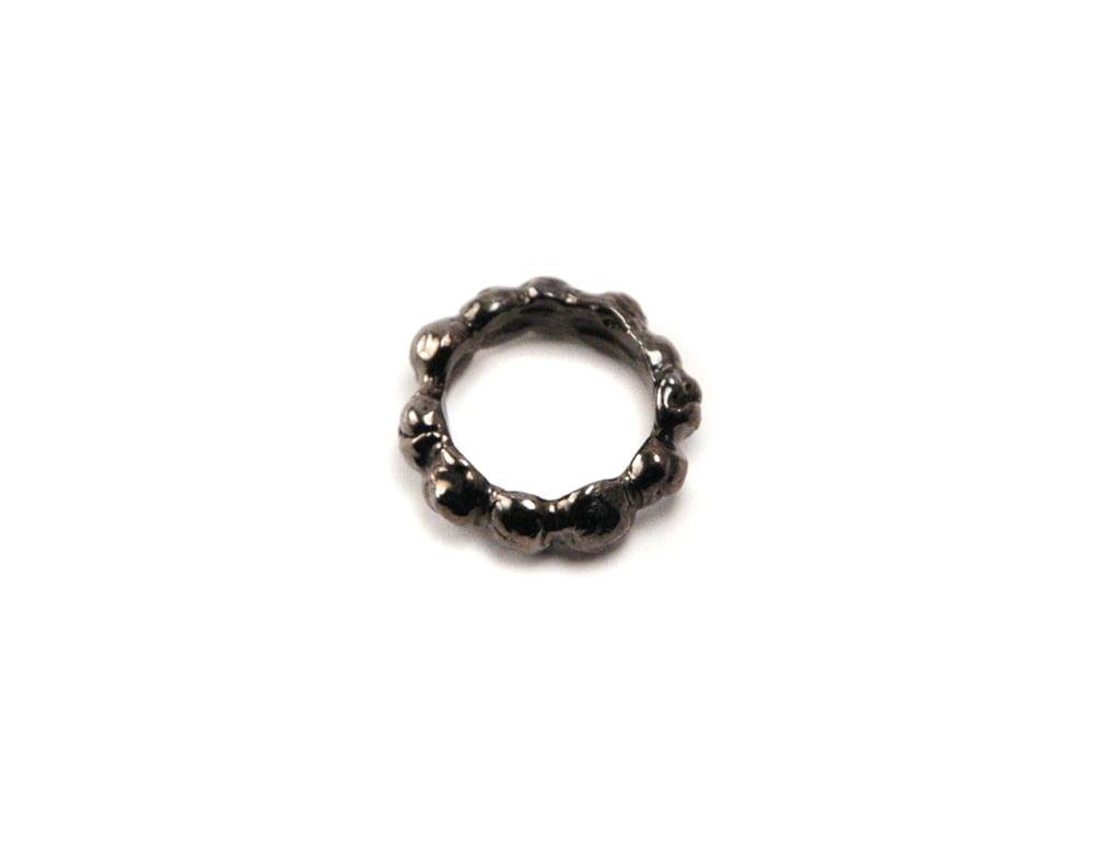 Image of Gunmetal Caviar Stackable Ring