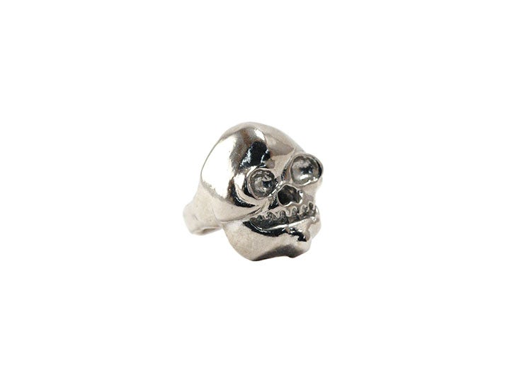 Image of Rhodium Skull Ring