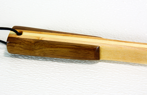 Image of Handcrafted Wooden Backscratcher, Parent Gift, Maple, Pine and Walnut Wood Back Scratcher