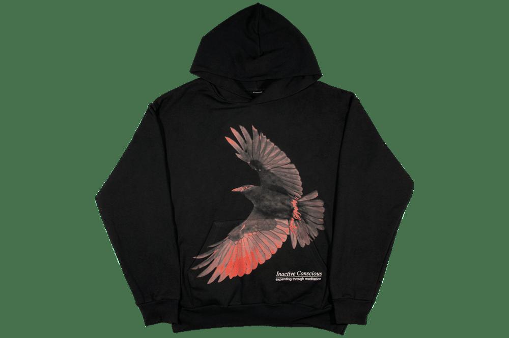 Image of Inactive Crow Hoodie Black