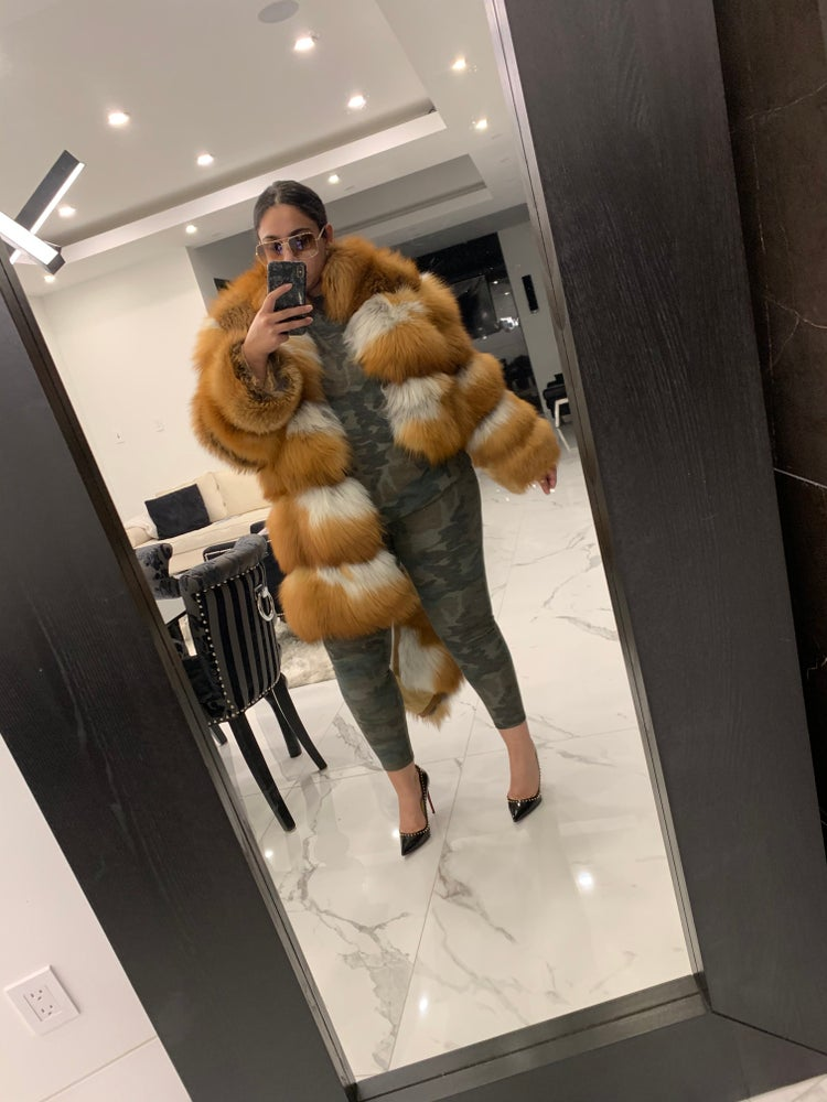 Image of Stacy 3in1 Red Fox Fur Coat