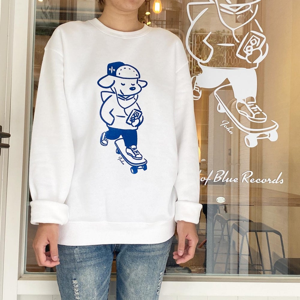 Image of 'Skateboarding with John' Crewneck Sweatshirt - White