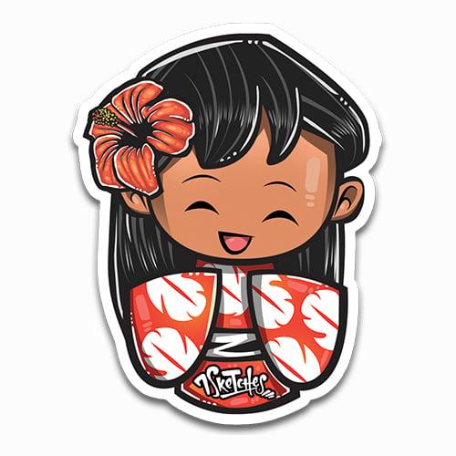 Image of Kokeshi Lilo Sticker