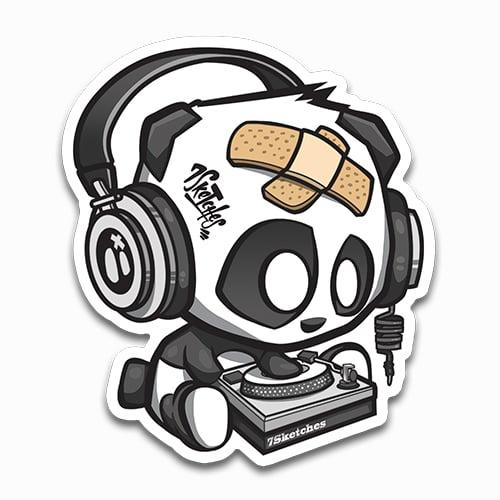 Image of DJ Panda Sticker