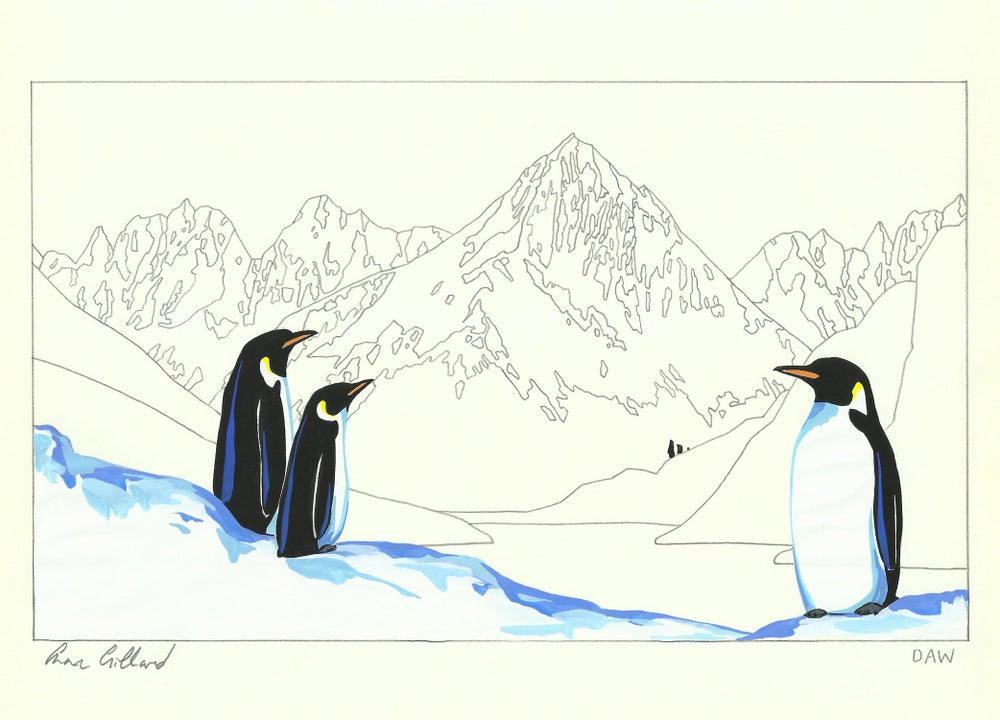Image of Emperor Penguins and Atalanta