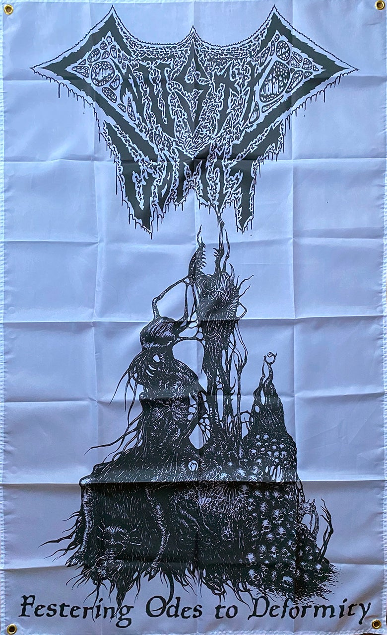 "Image of  Caustic Vomit "" Festering Odes To Deformity "" Flag / Banner / Tapestry"