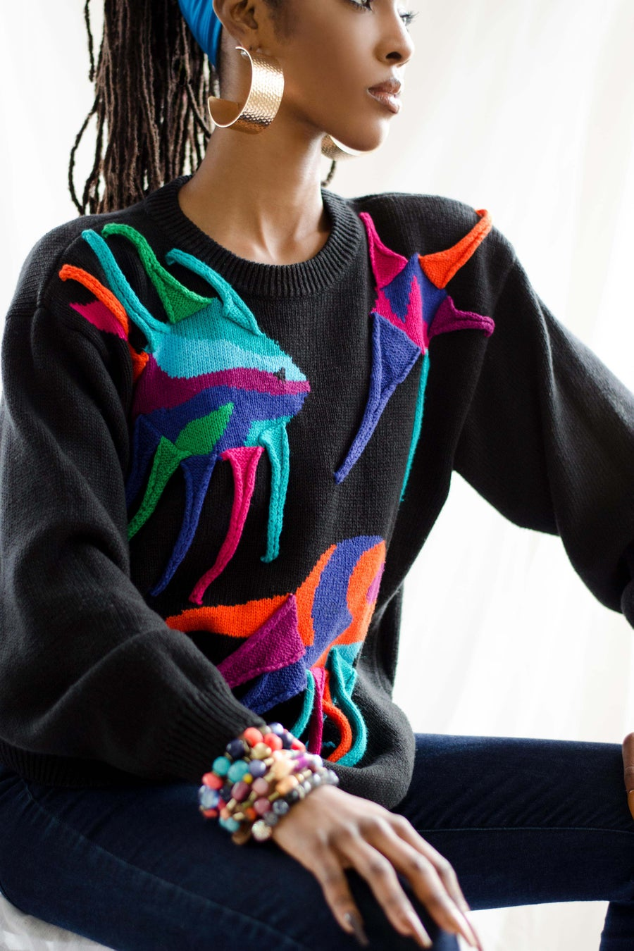 Image of Vintage Diffusion Colorful Aquatics Sweater