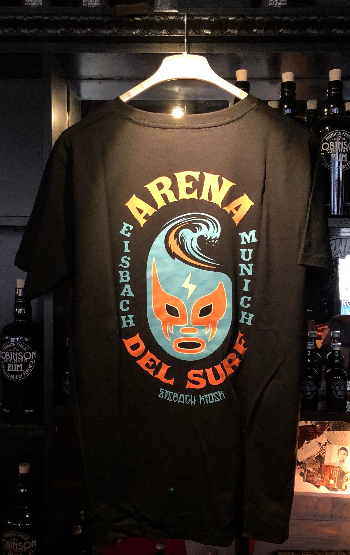 """Image of Eisbach Kiosk """"Arena Del Surf"""" T-Shirt -schwarz oder weiß-"""