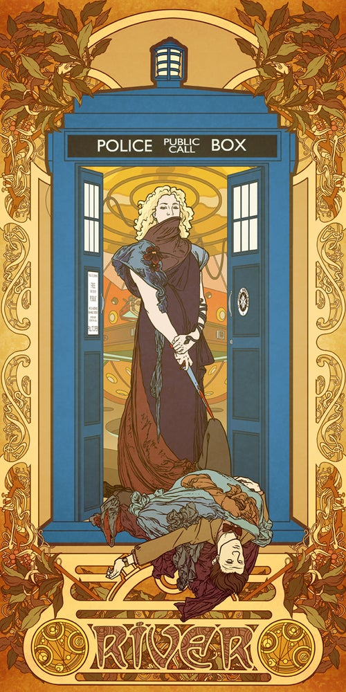 Image of River Song by way of Alphonse Mucha