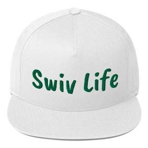 Image of Swiv Life in Green Flat Bill Cap