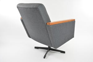 Image of Fauteuil pivotant gris anthracite
