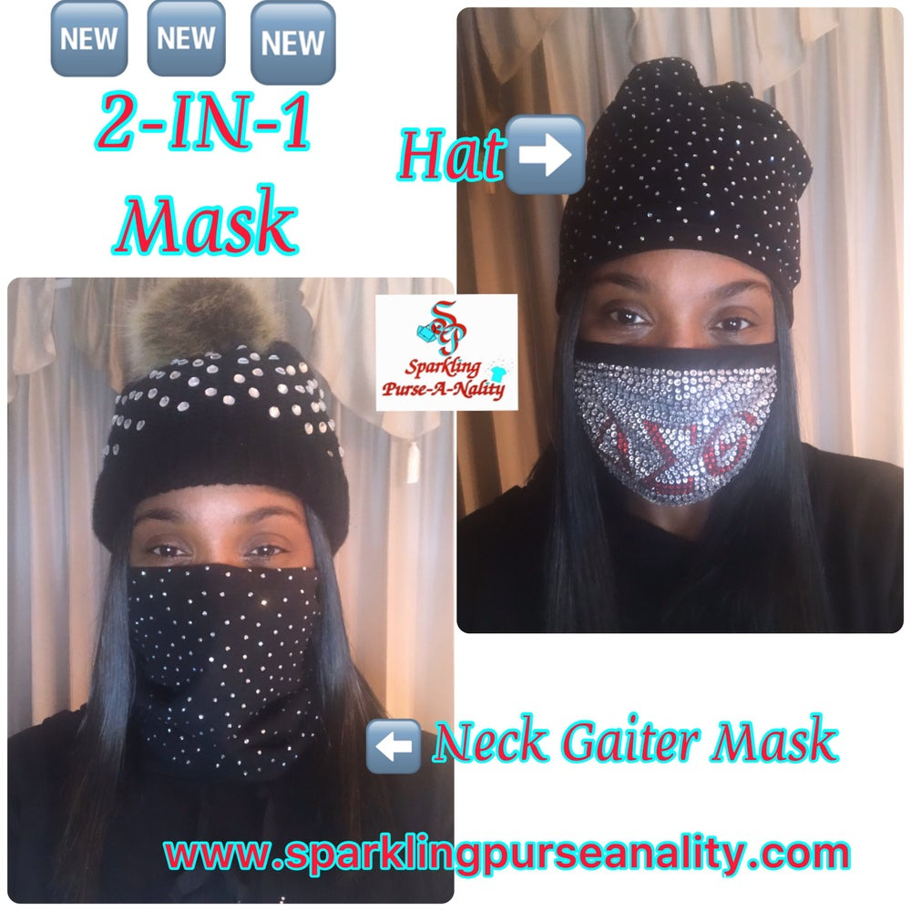 "Image of ""Sparkling""  2-In-1 Neck Gaiter Mask & Cap"