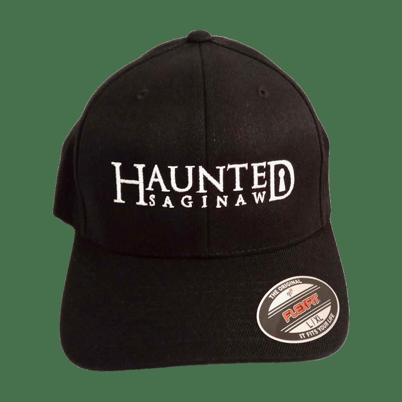 Image of Haunted Saginaw Logo Flex Fit Baseball Cap