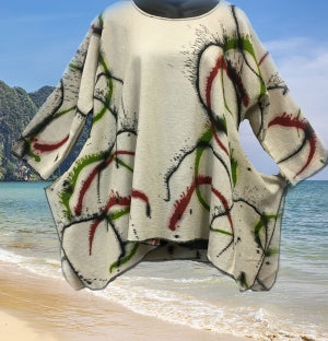 Image of Joy Tunic - Hand Painted - Wear with Leggings